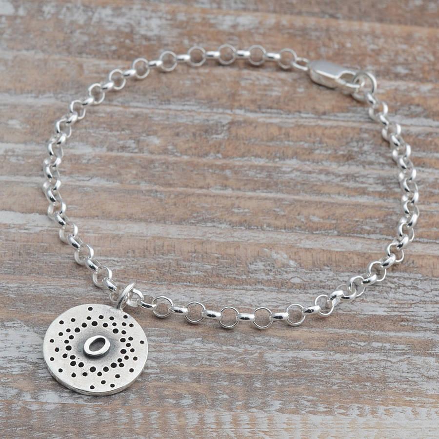 Sterling Silver Initial Charm Bracelet