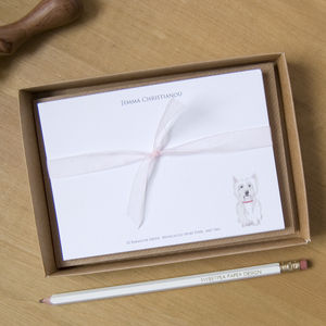 Personalised Westie Dog Correspondence Cards