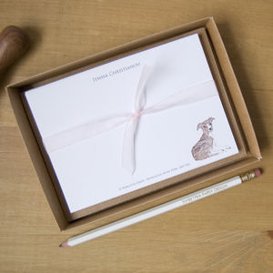 Personalised Greyhound Puppy Correspondence Cards