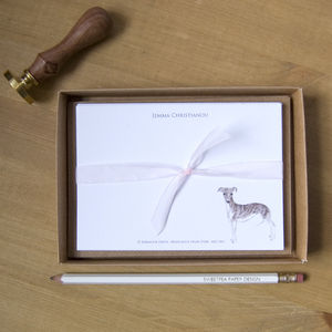 Personalised Greyhound Dog Correspondence Cards