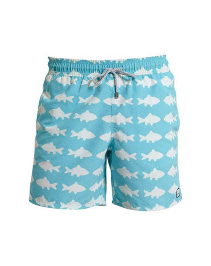Boy 39 s fish swimming trunks by tom and teddy for Fishing swim trunks