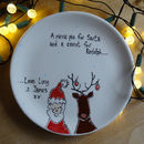 Christmas Santa And Rudolph Plate