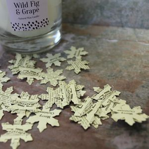 Snowflake Table Confetti - dining room