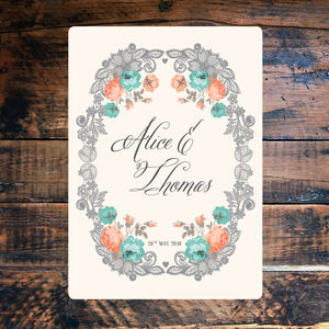 Vintage Style Lace Floral Wedding Invitations