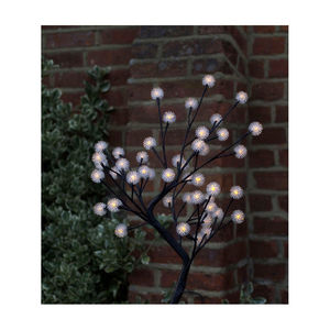 White LED Dahlia Indoor / Outdoor Light Tree