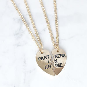 'Partners In Crime' Friendship Necklaces - women's jewellery