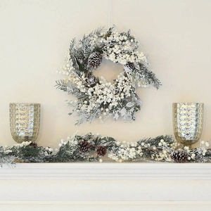 6ft Frosted White Berry Christmas Garland - garlands & bunting