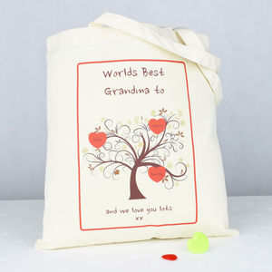 Personalised 'Grandma' Family Tree Bag - shopper bags