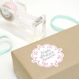 Ornate Gift Wrap Stickers - wedding favours