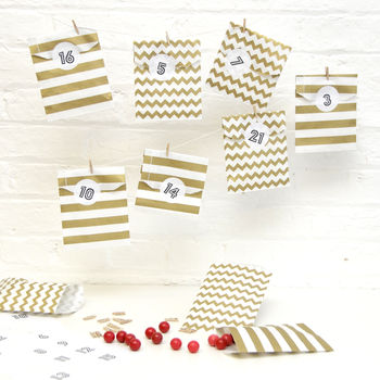 Advent Calendar Gold Paper Bag Kit