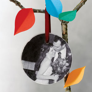 Personalised Photograph Wooden Decoration - tree decorations