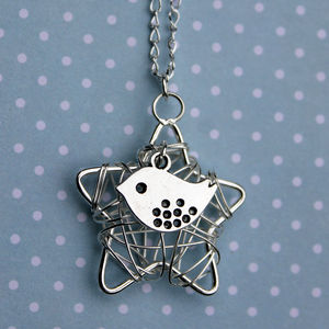 Birdy On A Star Necklace - necklaces & pendants