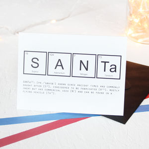 Christmas Periodic Table Santa Card Packs - shop by category