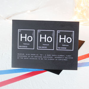 Christmas Periodic Table Ho Ho Ho Card Packs - christmas cards: packs