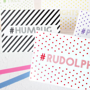 Christmas Hashtag Cards Full Set