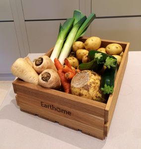 'Home Grown' Oak Fruit And Veg Crate - storage