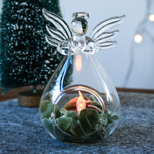 Glass Angel Vase Open - table decorations