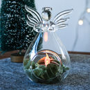 Glass Angel Vase Open