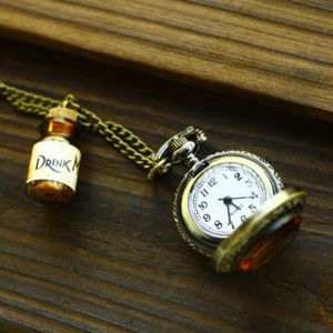 'Drink Me' Bottle Watch Necklace - necklaces