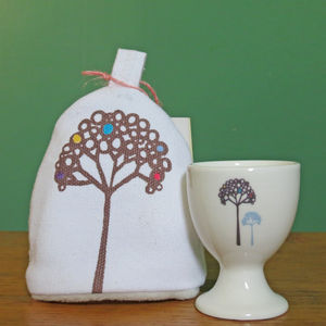 Blossom Tree Egg Cup And Cosy Set