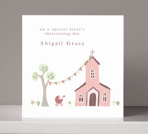 Personalised Christening Card For Girl Or Boy - new baby & christening cards