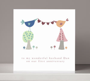 Personalised Anniversary Or Engagement Card - anniversary cards