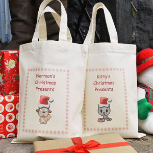 Personalised 'Christmas' Pet Bag - wrapping
