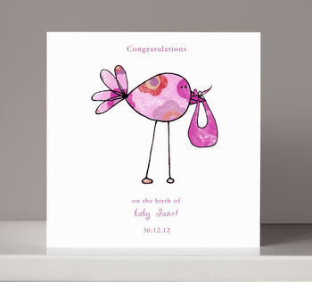 Personalised 'Congratulations' New Baby Card