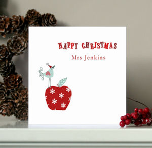 Personalised Teacher Christmas Card - cards & wrap