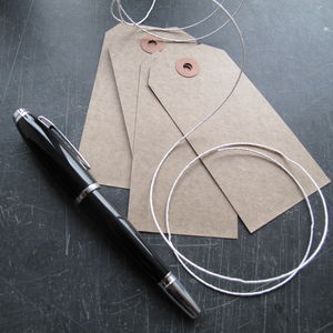 Brown Kraft Tags - cards & wrap