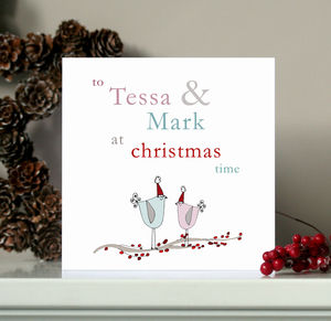 Personalised Couples Christmas Card