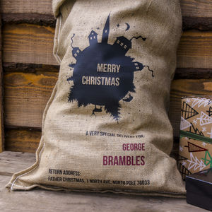 A Personalised Merry Christmas Santa Sack