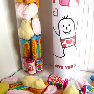Personalised 'I Love You' Retro Sweets - gifts to eat & drink
