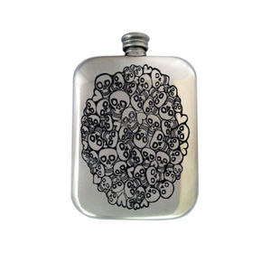 Personalised Skull Hip Flask