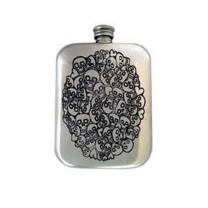Free Engraved Handmade Skull Flask