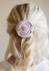 Silk Diamante Hair Clip - bridesmaid accessories
