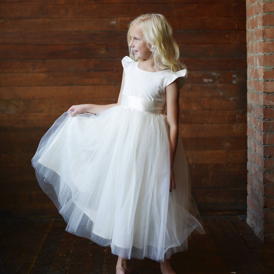 Cotton First Communion Or Flower Girl Dress By Gilly Gray