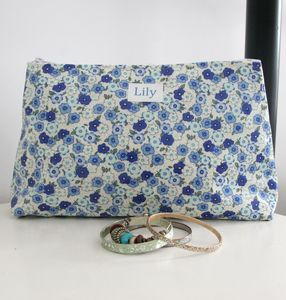 Personalised Floral Wash Bag - make-up & wash bags
