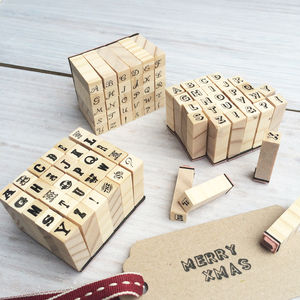 Miniature Alphabet Stamps Set - cards & wrap