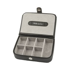 Mele And Co. Black Bonded Leather Cufflink Storage Box