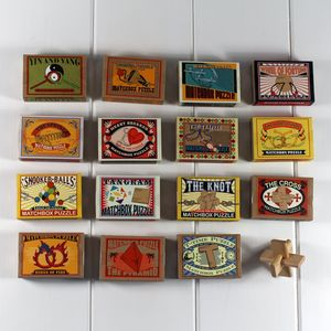 Matchbox Puzzles. Little Wood And Metal Brain Teasers - games & sports