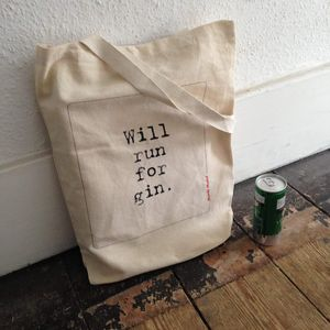'Will Run For Gin' Gym Bag