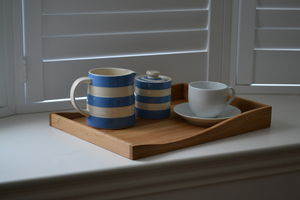 Personalised Wooden 'Wave' Tea Tray
