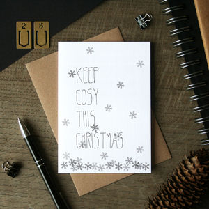 Keep Cosy Christmas Card - christmas card packs