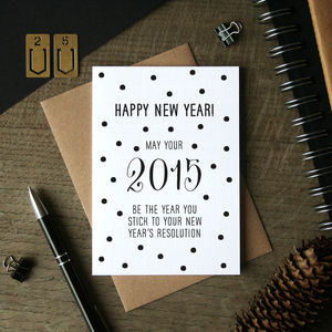 New Year's Resolution Card - cards & wrap