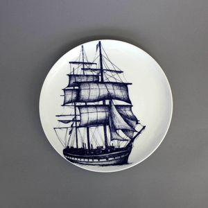 Maritime Bone China Dinner Plate Packet Ship