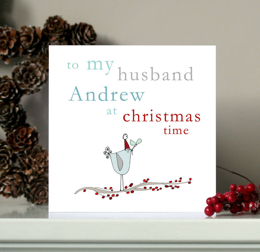 Personalised Husband Boyfriend Christmas Card By Molly Moo Designs