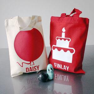 Personalised Birthday Cotton Treat Bag