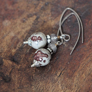 Jasper And Gemstone Earrings