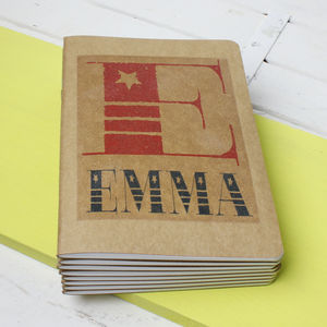 Personalised Vintage Font Name Notebook - notebooks & journals